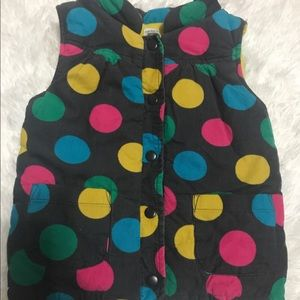 Carter's Polka Dot Puffy Vest Size 5